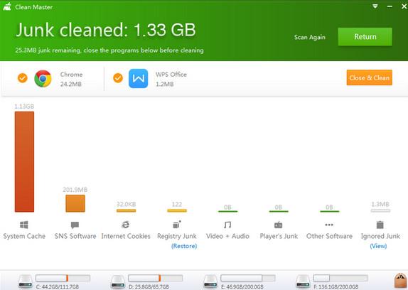 تحميل برنامج تنظيف الكمبيوتر من بقايا الملفات Clean Master